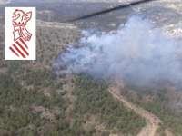 Controlado el incendio forestal de Requena