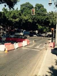 Nuevas restricciones de tráfico en la Alameda Principal desde este lunes debido a las obras del metro