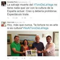 El rechazo a la celebración del Toro de la Vega lidera las tendencias de este martes en las redes sociales