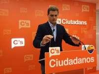 Albert Rivera visita este miércoles el Parlamento y participa en un acto junto a Marín en Sevilla