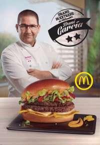 El chef Dani García crea una nueva hamburguesa para McDonald's que estará disponible a partir del martes