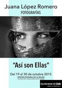 Cultura.- Cádiz inaugura este lunes la exposición 'Así son ellas' en el Centro Integral de la Mujer