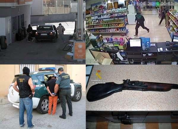 Detenidos los 4 miembros de una organización dedicada a atracar en gasolineras, comercios y viviendas