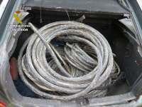 Tres detenidos en Cuenca por robar al menos 600 kilos de cobre y darse a la fuga de un control de velocidad
