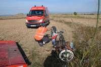 Herido grave un hombre de 51 años al salirse de la vía la motocicleta que conducía en Figarol