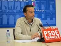 El PSOE presenta 16 iniciativas en el Ayuntamiento de Badajoz para