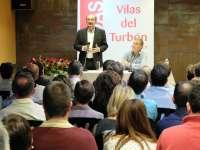 Lambán pide el apoyo de los socialistas altoaragoneses para llevar a Sánchez a la Moncloa