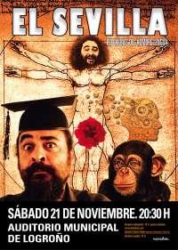 El auditorio municipal acogerá el 21 de noviembre el monólogo 'Reflexiones del Hombre Lengua' de 'El Sevilla'