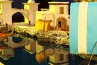 Mojados (Valladolid) expone un Belén de más de 30 metros cuadrados realizado con corcho y materiales reciclados
