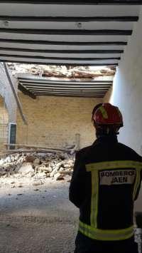Cultura.- Se derrumba parte de la techumbre del patio de abluciones de la iglesia de La Magdalena