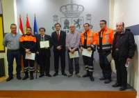 Bretón hace entrega de los diplomas por fidelidad y permanencia de forma altruista a seis miembros de REMER Rioja