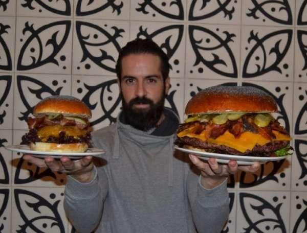 Un restaurante organiza el reto de comer 2,5 kilos de hamburguesa en una hora entre diez rivales