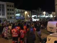 Cruz Roja interviene en ocho avisos, ninguno grave, en una primera noche del Carnaval de Badajoz
