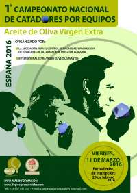 Priego de Córdoba acogerá el I Campeonato Nacional de Catadores de Aceite de Oliva Virgen Extra por Equipos