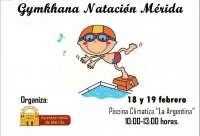 Más de seiscientos alumnos participan en la gymkana escolar de natación de Mérida
