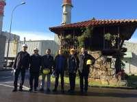 Representantes de la compañía Tokyo Gas y Mitsubishi visitan la central térmica de EDP de Soto de Ribera