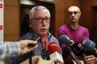 El secretario general de CCOO, Ignacio Fernández Toxo, invitado este lunes en 'La Tertulia' de Canal Sur TV