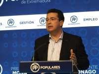 El PP de Extremadura no descarta