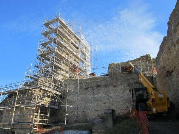 Cultura.-La nueva fase de restauración del Alcázar de Carmona garantizará la seguridad estructural del edificio