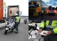 Detenido el conductor de un camión de gran tonelaje que superaba ocho veces la tasa máxima de alcoholemia