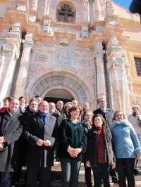 Pedro Antonio Sánchez y Soraya Sáenz de Santamaría visitan Caravaca de la Cruz, inmersa en preparativos Año Jubilar