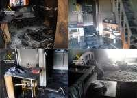 Esclarecen dos incendios en viviendas provocados por familiares de los propietarios