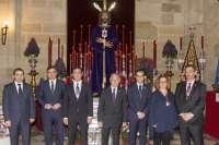 El equipo de gobierno de la Diputación participa en el Besapiés del Cristo de Medinaceli