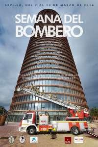 Cronoescalada a la Torre Sevilla de los bomberos hispalenses dentro de la Semana del Bombero