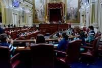 Alumnos canarios avisan en un pleno infantil del Parlamento de que hay muchos niños