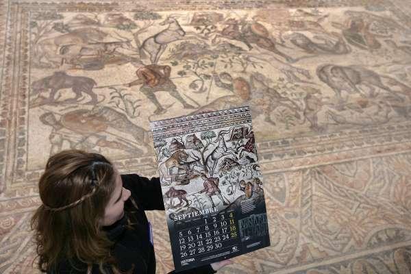 Los mosaicos de La Olmeda ilustran el calendario 2016 de historia de National Geographic