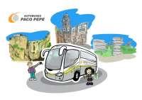 El Grupo Paco Pepe invita a los escolares a plasmar en dibujos y fotos sus trayectos en autobús