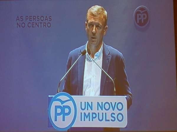 Rueda releva a Louzán como presidente del PP de Pontevedra con un 97,14% de los votos
