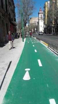 El Ayuntamiento repara y mejora el carril bici de la calle Recaredo tras una inversión de 55.000 euros