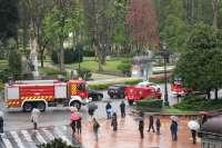 Bomberos de toda España asisten al funeral del compañero fallecido en Oviedo