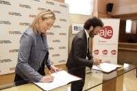 Gobierno aragonés y AJE Zaragoza favorecerán la actividad empresarial en la Comunidad