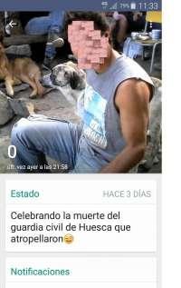 Detenido en Cigales (Valladolid) por celebrar en Internet la muerte de un guardia civil en Barbastro (Huesca)