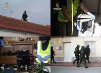 Guardia Civil desarticula una banda muy violenta que asaltaba viviendas y comercios en Campo Cartagena (Murcia)