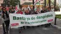 Trabajadores despedidos de hoteles de lujo de Marbella se manifiestan para reivindicar su readmisión