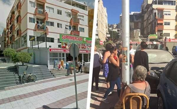 Quedan aún cinco personas sin localizar tras el derrumbe en Los Cristianos (Tenerife)