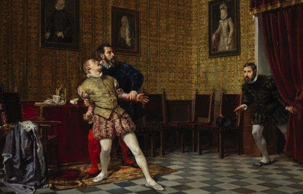 El príncipe don Carlos y el duque de Alba