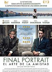 Final Portrait (El arte de la amistad) - Cartel