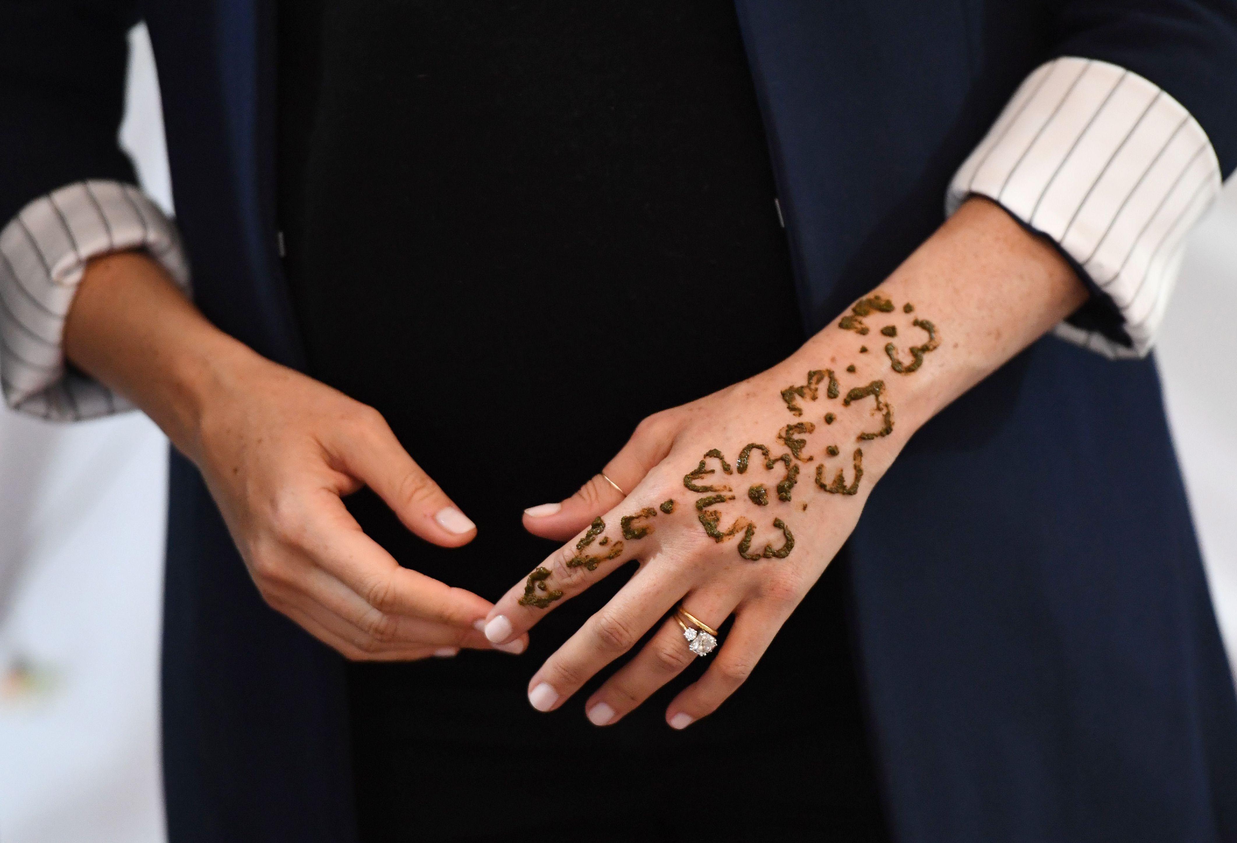 Meghan Markle y su tatuaje de henna