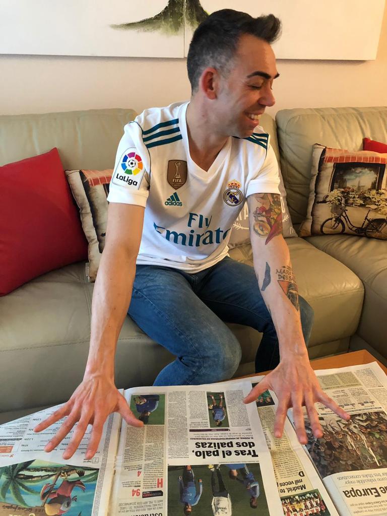 José Francisco, hincha del Real Madrid
