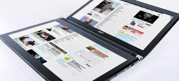 Acer presenta un ordenador portátil de dos pantallas