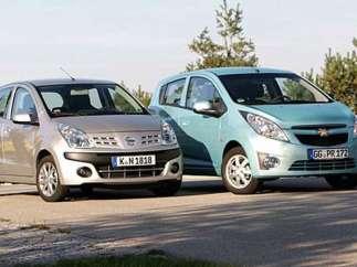 Chevrolet Spark y Nissan Pixo.