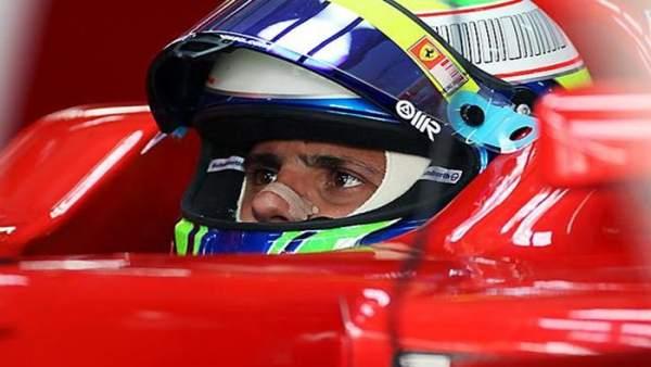 El piloto brasileño de Ferrari, Felipe Massa, durante unos entrenamientos