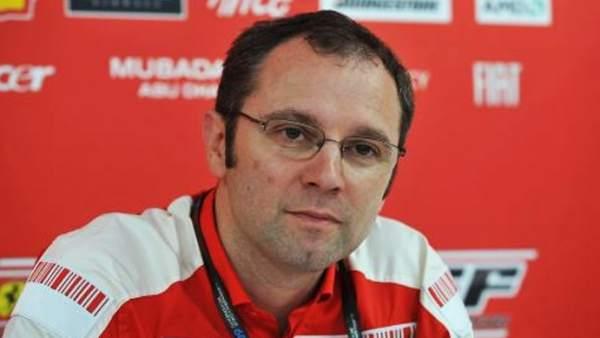 Stefano Domenicali, jefe deportivo de Ferrari