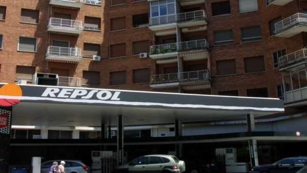 Una gasolinera de Repsol.