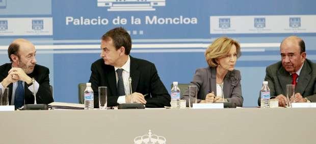 Emilio Botín, con el Gobierno de Zapatero