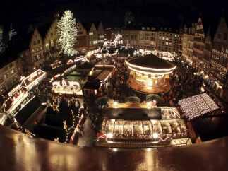 Mercadillo de Navidad en Fráncfort, Alemania